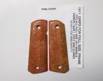 1911 custom -  Pink Ivory / Filigree