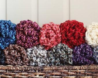 Newborn Wrap Set - Lush Wrap Set - CHOOSE YOUR COLORS - Set of 3 - photo prop layering set - knitbysarah - Stitches by Sarah