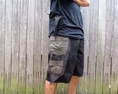 Cargo Hybrid Fishie Shorts - Black