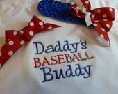 Personalized Monogrammed  Children's Clothing, Baseball Shirt, Girls Baseball one piece, Daddy or Fathers Day