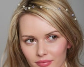 Long Hairvine - Hair Wrap. Bridal Hair Accessories with Swarovski Crystal and Pearl, Wedding hair accessory,bridal headpiece, hair wrap