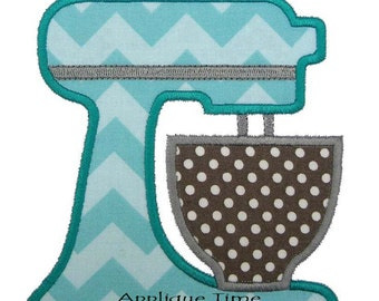 Instant Download Stand Mixer Machine Embroidery Applique Design 4x4, 5x7 and 6x10