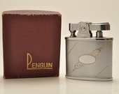 Working Chrome Penguin Pocket Lighter with Oringal Box