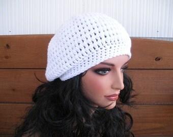 Womens Hat Crochet Hat Women Winter Fashion Accessories Women Slouchy Hat Crochet Winter Hat in White - Choose color
