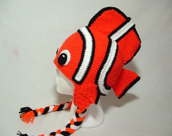 Finding Nemo Inspired Clown Fish Hat. Any size
