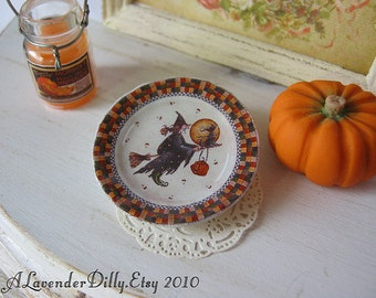 Witchween Halloween Plate for Dollhouse