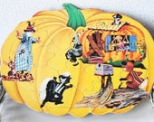 Vintage Puzzle Art to Frame, Kids Room Decor Nursery Rhyme Peter Pumpkin Eater 1960s Collectible