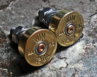12 Gauge Winchester Shotgun Brass Bullet Motorcycle License Plate Bolts for Harley Honda Suzuki