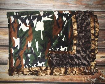 Minky Blanket, animal minky, wildlife minky, hunting minky, deer blanket, hunting blanket, black bear blanket, soft blanket, blanket for boy