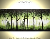 """Original Landscape Painting, modern landscape painting  size 24"""" X 48"""" X 1 1/2"""" by Art By Mitchell."""