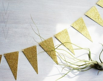 Pennant Garland, Glitter, Wedding Decor- Free Shipping