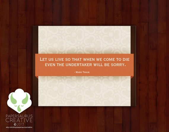 Blank greeting card set - Mark Twain quote cards - philosophical
