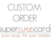 Custom order for LIndsay