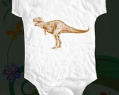Dino 01 T Rex Dinosaur - graphic printed on Infant Baby One-piece, Infant Tee, Toddler T-Shirts - Many sizes