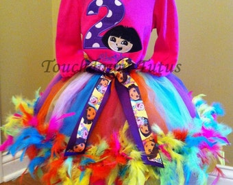 Dora The Explorer tutu outfit - Pick your number
