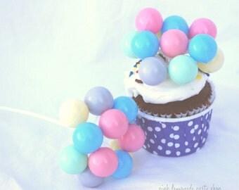 ReTRo Balloon Picks--3ct--pastel--Carnival party--Circus Theme---