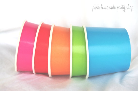 50 MeDiuM -ICE CReaM Cups with diy ice cream labels-12oz--red,pink,orange,green,blue,white--or choose colors-