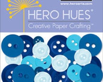 SALE Hero Arts Sea Buttons Mixed Blue CH261 Retired
