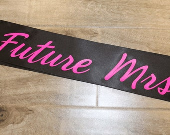bachelorette sash future mrs