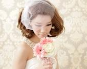 Bridal  birdcage veil (custom order  in ivory colour)
