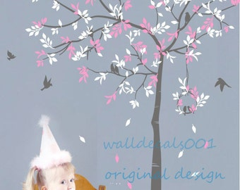 Tree Wall Decals tree decals baby  wall stickers wall decor wall art Tree with birds