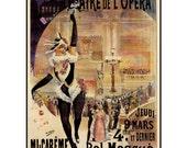 "Vintage French poster ""Bal Masque theatre de l opera"", P046"
