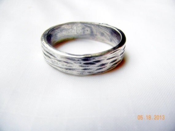 beautiful mens wedding ring simple silver by