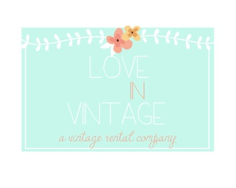 Custom Logo Design Premade Logo and Watermark for Photographers and Small Crafty Boutiques Vintage Whimsy Garland