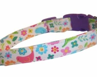 Birds welcome summer dog cat pet puppy collar xs sm med lg xl custom made all sizes