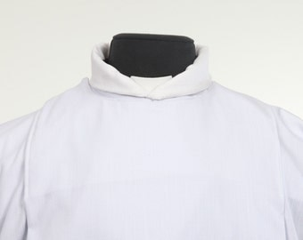 Clergy amice, Linen cotton, Custom made cool comfort collar protection