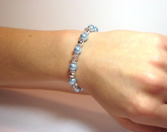 Clear Skies Ahead - Interchangeable Beaded Watch Band
