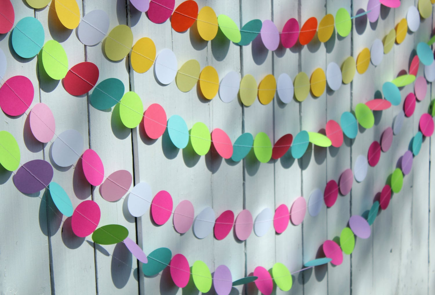 Birthday party decorations paper garland party decoration for Paper decorations diy