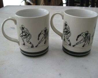 Vintage Football Mugs Set of 2