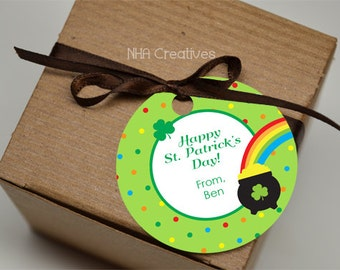 St. Patrick's Day Favor Tag - Personalized DIY Printable Digital File