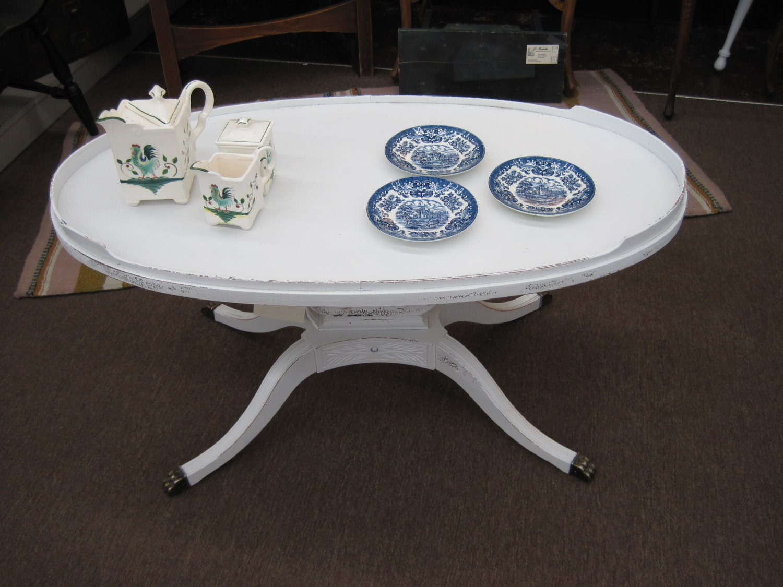 Shabby Chic Lyre Style Coffee Table By Travelingfarmgirls