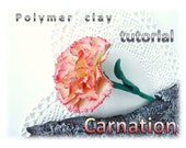 Carnation. Polymer clay tutorial