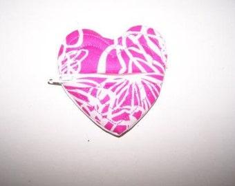 Handmade Heart Shaped Coin Purse Bulk Orders Pink White Fabric
