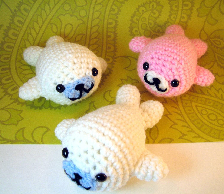 Crochet Amigurumi Seal : Super Kawaii Mamegoma Seals Amigurumi Crochet Plush Animals