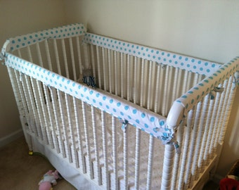 Crib Guards -- FOUR PIECE Custom Crib Rail Teething Guards