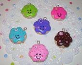 Happy Cookie Charms - Kawaii Charm - You Choose Color