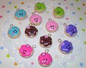 Happy Mini Cookie Charm - Kawaii Charms -  You Pick Colors
