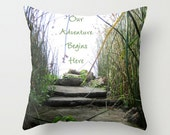 Inspirational Quote Sofa Pillow, African Accent Pillow, Neutral Throw Pillow Cover, 18x18 24x24  Decorative Pillow Cushion