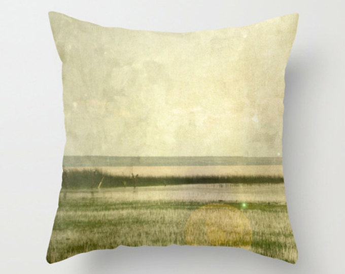 African Sofa Pillow, Yellow Accent Pillow, Neutral Throw Pillow Cover, 18x18 24x24 Decorative Pillow Cushion African Landscape Ethiopia