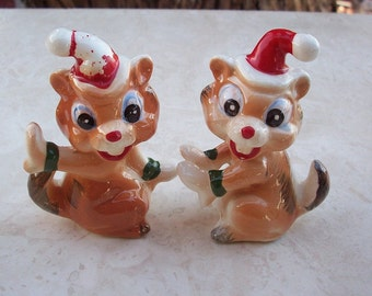 Kreiss Chipmunk Salt and Pepper Shakers  circa 1950's
