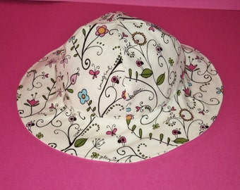 Baby Sun Hat - Baby Gift - Baby Girl Sunhat - Toddler Sun Hat - Baby Sunhat - Cotton Summer Hat - Made To Order in Size Newborn To 7 Years