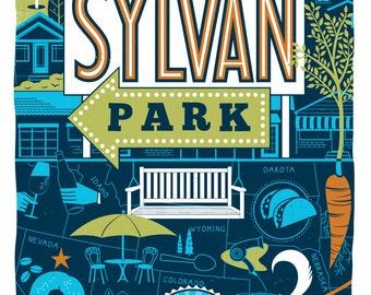 Nashville Neighborhood Poster Series- 2, SYLVAN PARK