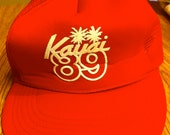 Kauai Hawaii 1989 Vintage Trucker Hat