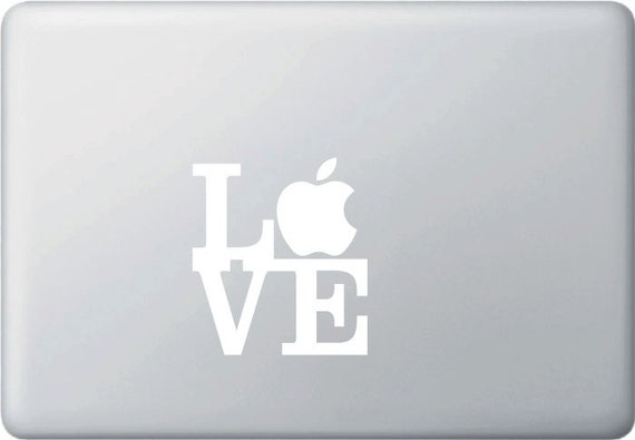 "MB - LOVE Sculpture 2D - Vinyl Decal for Macbooks (3.5""w x 3.75""h)(Color Variations Available)"