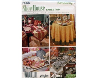 Table Cloth, Pattern, Table Runners, Placemats, Simplicity 5068, Home Decor, UNCUT, Napkins, Kitchen Organizer, Silverware Caddy, Egg Cozy