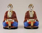 On Hold for Arlen - Vintage Japanese porcelain buddha censers, set of 2